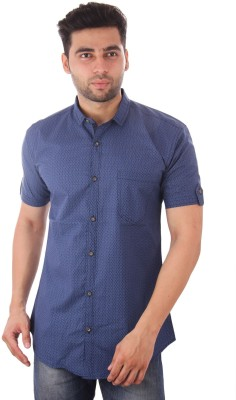 Studio Nexx Men's Printed Casual Blue Shirt