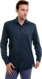 Bendiesel Men's Solid Formal Black Shirt
