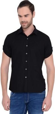 IDENTITI Men's Solid Casual Black Shirt