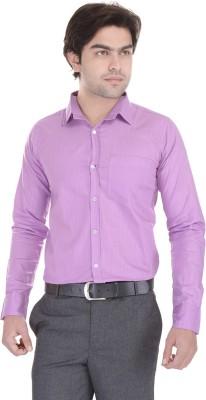 Lee Mark Men's Solid Formal Purple Shirt