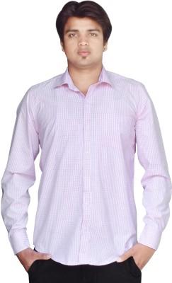 Kartier Men's Checkered Casual Purple Shirt