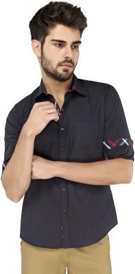 Zoro Auge Men's Solid Casual Blue Shirt