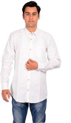 MOZYBO Men's Solid Formal White Shirt