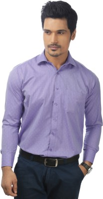 Zeal Mens Checkered Formal Purple Shirt