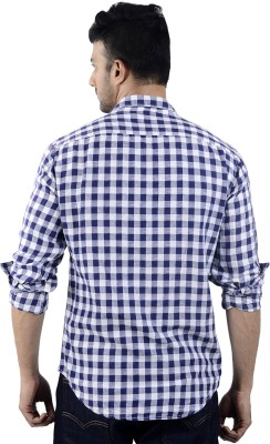St. Germain Men's Checkered Party Multicolor Shirt