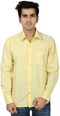 Trewfin Men's Solid Casual Reversible Yellow Shirt