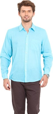 Ekmatra Men's Solid Casual Light Blue Shirt