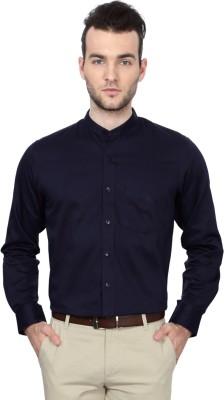 University of Oxford Men's Solid Casual Dark Blue Shirt