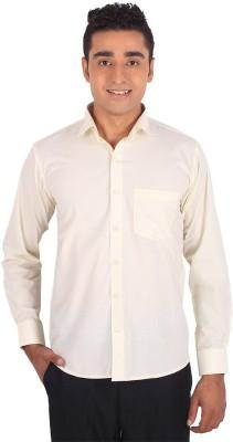 Henry Spark Men's Solid Formal Beige Shirt