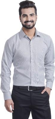 Coffee Bean Men,s Striped Formal Grey Shirt