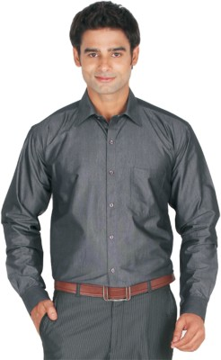 Lagnesh Men's Solid Formal Grey Shirt