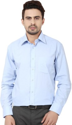 Leecosto Men,s Solid Formal Light Blue Shirt