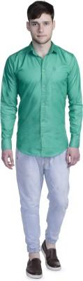 Aligatorr Men's Solid Formal Green Shirt