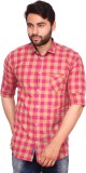 RKF Men's Checkered Casual Red Shirt