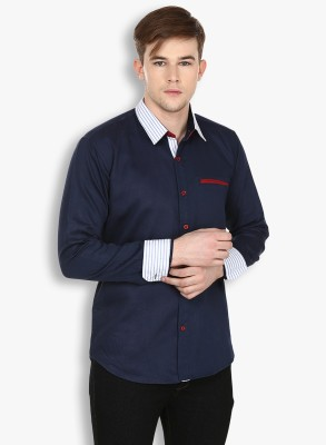 Stylox Men,s Solid Casual Blue Shirt