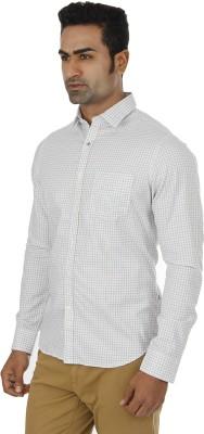 London Fog Men,s Checkered Casual Grey Shirt