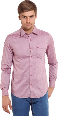 Classic Polo Men's Solid Formal Pink Shirt