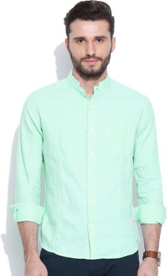 United Colors of Benetton Men's Solid Casual Light Blue Shirt