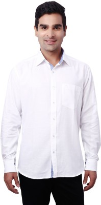 Nanya Men's Solid Casual White Shirt