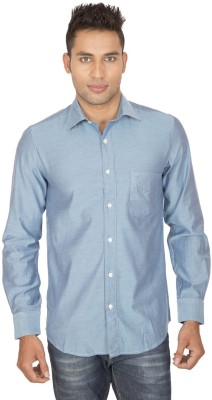SmartCasuals Men's Solid Casual Blue Shirt