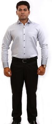 Iconic Men's Self Design Formal White Shirt