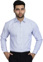 Studio Nexx Formal Shirts (Men's) - Studio Nexx Men's Checkered Formal Dark Blue Shirt