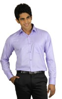 Qpark Formal Shirts (Men's) - Qpark Men's Solid Formal Purple Shirt