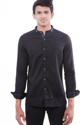 Enovate Men's Solid Casual Black Shirt