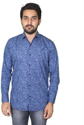 Mangue Men's Printed Casual Blue Shirt