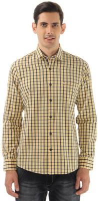 Monte Carlo Men's Checkered Casual Yellow Shirt