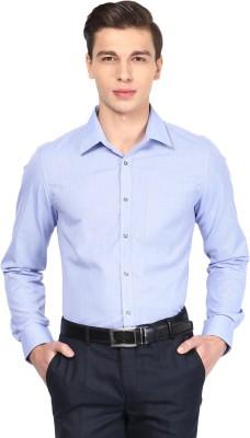London Bridge Men's Solid Formal Light Blue Shirt
