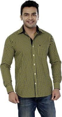 Jazzup Men's Checkered Casual Green Shirt