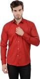 X-Cross Men's Printed Casual Red Shirt