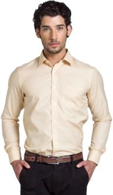 Klub Fox Men's Solid Formal Yellow Shirt