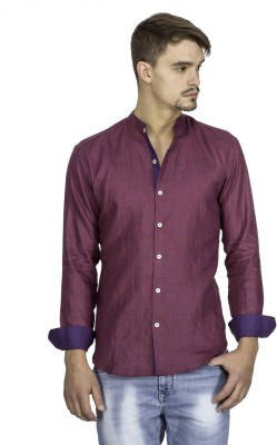 Mayank Modi Men's Checkered Casual Linen Red, Blue Shirt