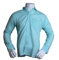 Qube Formal Shirts (Men's) - Qube Men's Solid Formal Blue Shirt