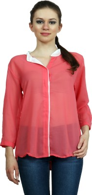 Pajjama Party Women's Solid Casual Pink Shirt