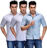 TSX Men's Solid Casual Multicolor Shirt ...