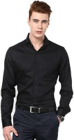Rv Collection Formal Shirts (Men's) - RV Collection Men's Solid Formal Black Shirt