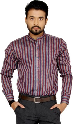 Indian Weller Men's Striped Casual Multicolor Shirt