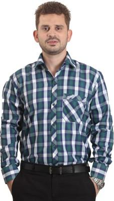 The Standard Men's Checkered Formal Green Shirt