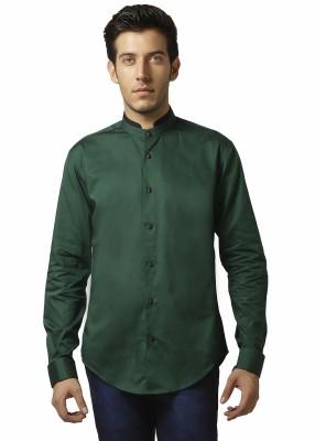 Karsci Men's Solid Casual Green Shirt