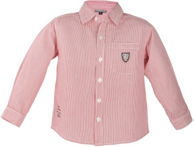 TonyBoy Boys Striped Casual Red Shirt