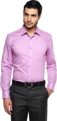 British Club Men's Solid Formal Purple Shirt