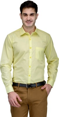 Being Fab Men's Solid Formal Yellow Shirt