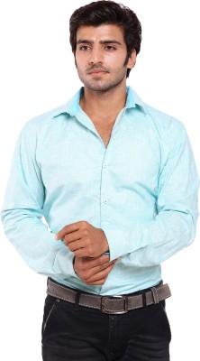 Deeksha Men's Solid Casual Blue Shirt