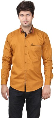 REFUEL SPORT Men's Solid Casual Brown Shirt
