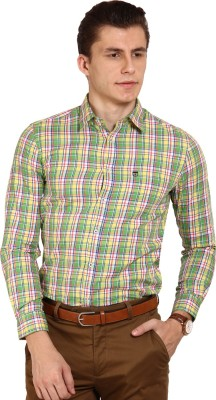 Oxford Club Men's Checkered Casual Multicolor Shirt