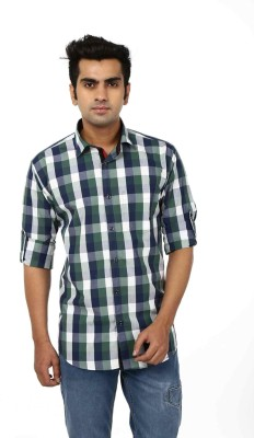 Adhaans Men's Checkered Casual Multicolor Shirt