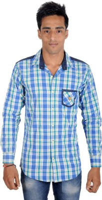 Yomaa Men's Checkered Casual Multicolor Shirt